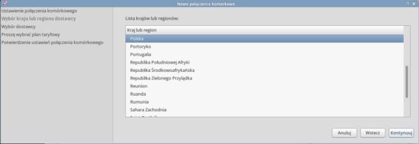 Network Manager wybór rodzaju połaczenia 4