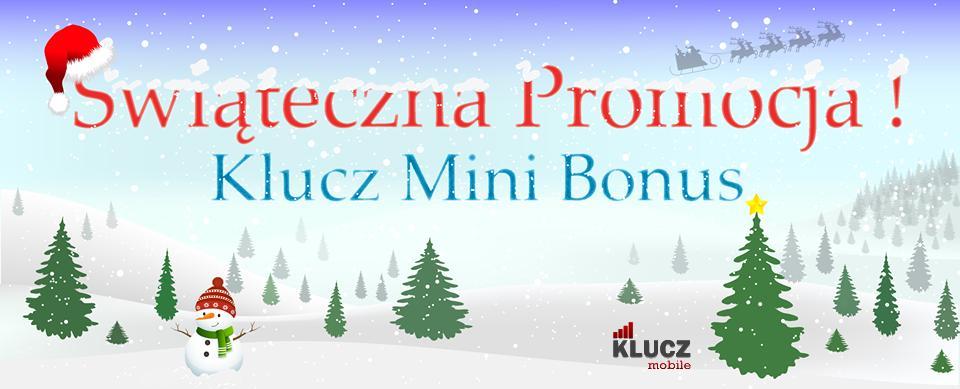 Świąteczna promocja KLUCZ Mobile – jednorazowy bonus za doładowanie konta