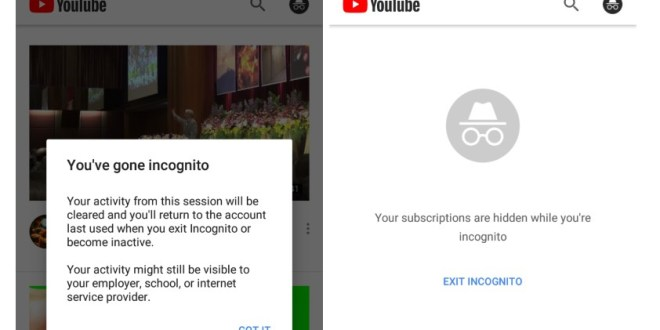 YouTube Starts Testing Incognito Mode for Mobile Apps – Variety