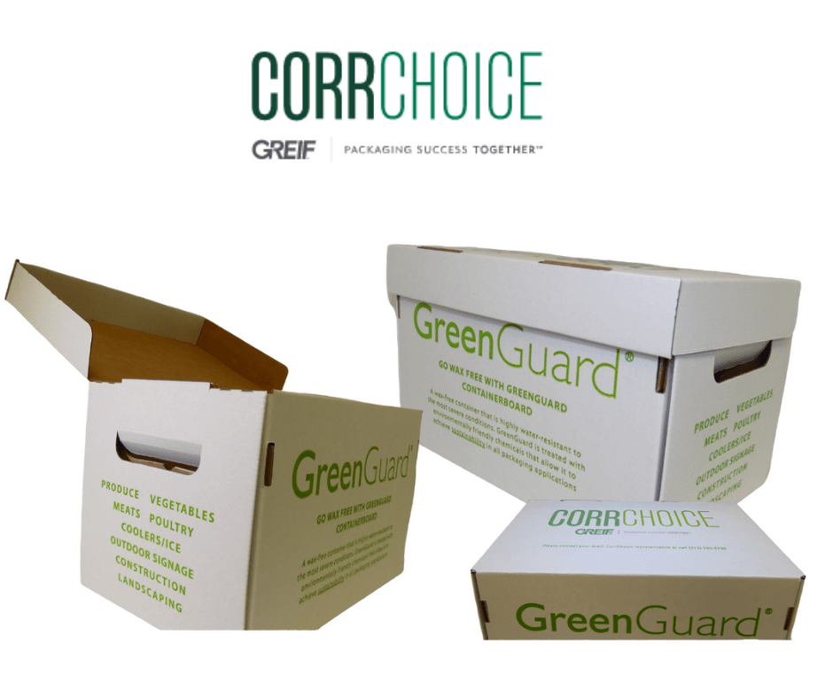 custom box designed with water resistant corrugate for CorrChoice