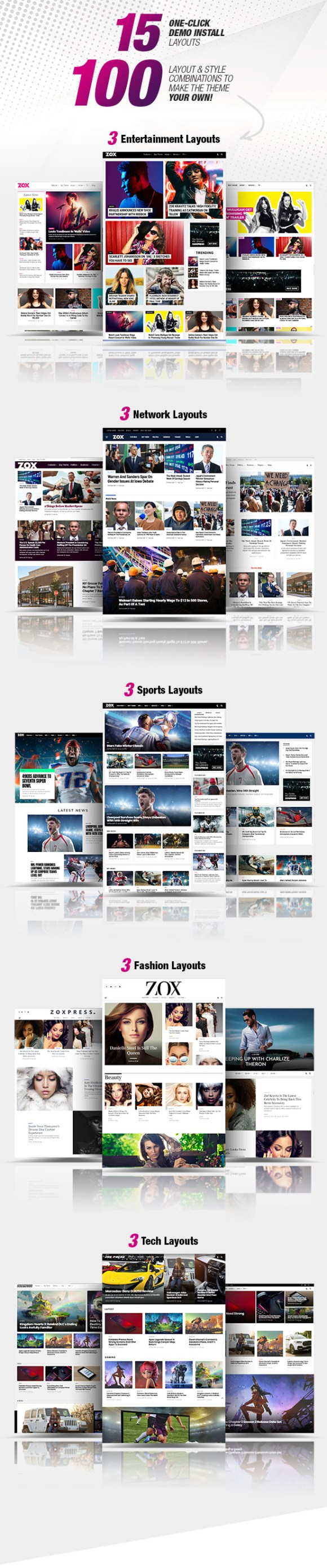 ZoxPress - The All-In-One WordPress News Theme - 1