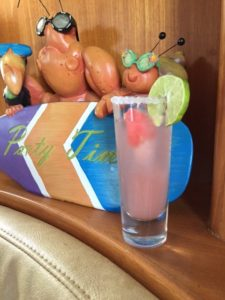 Watermelon Margaritas aboard Roam. Perfect drink for a steamy South Florida Memorial Day!