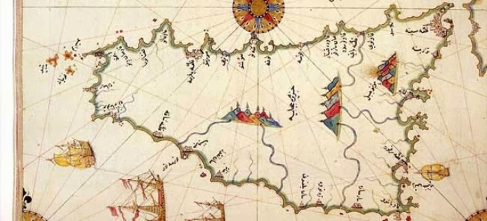 A historical map of Sicily according to Arab and Islamic geographers.