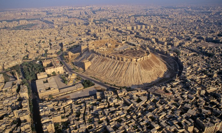 1993, Aleppo, Syria --- Aerial view of the citadel. --- Image by © Frederic Soltan/Sygma/Corbis