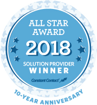 Constant Contact 2018 Solution Provider All Star Award Logo