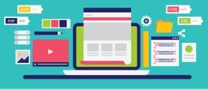 Illustration outlining a website design and development workflow.