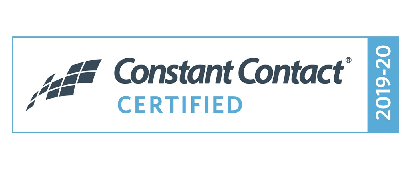 Constant Contact Certification Badge for 2019 / 2020
