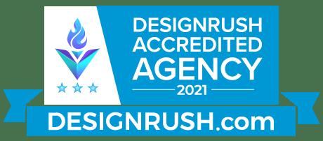 DesignRush Accredited Agency 2021. DesignRush.com.