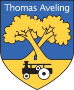 ThomasAvelingLogoBlack New Blue & Yellow