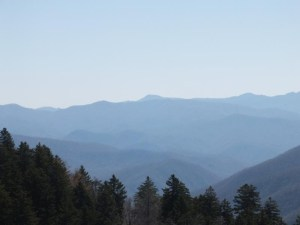 View of the Smoky Mountains from Newfound Gap
