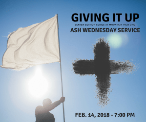 Ash Wednesday Service @ Mountain View UMC | Knoxville | Tennessee | United States