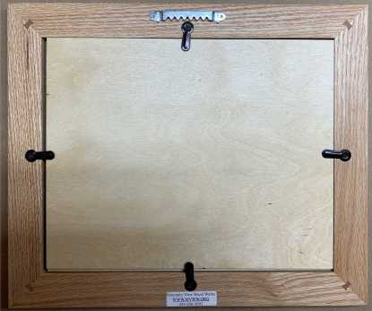 8x10 Poker Chip Display with Oak Frame Back