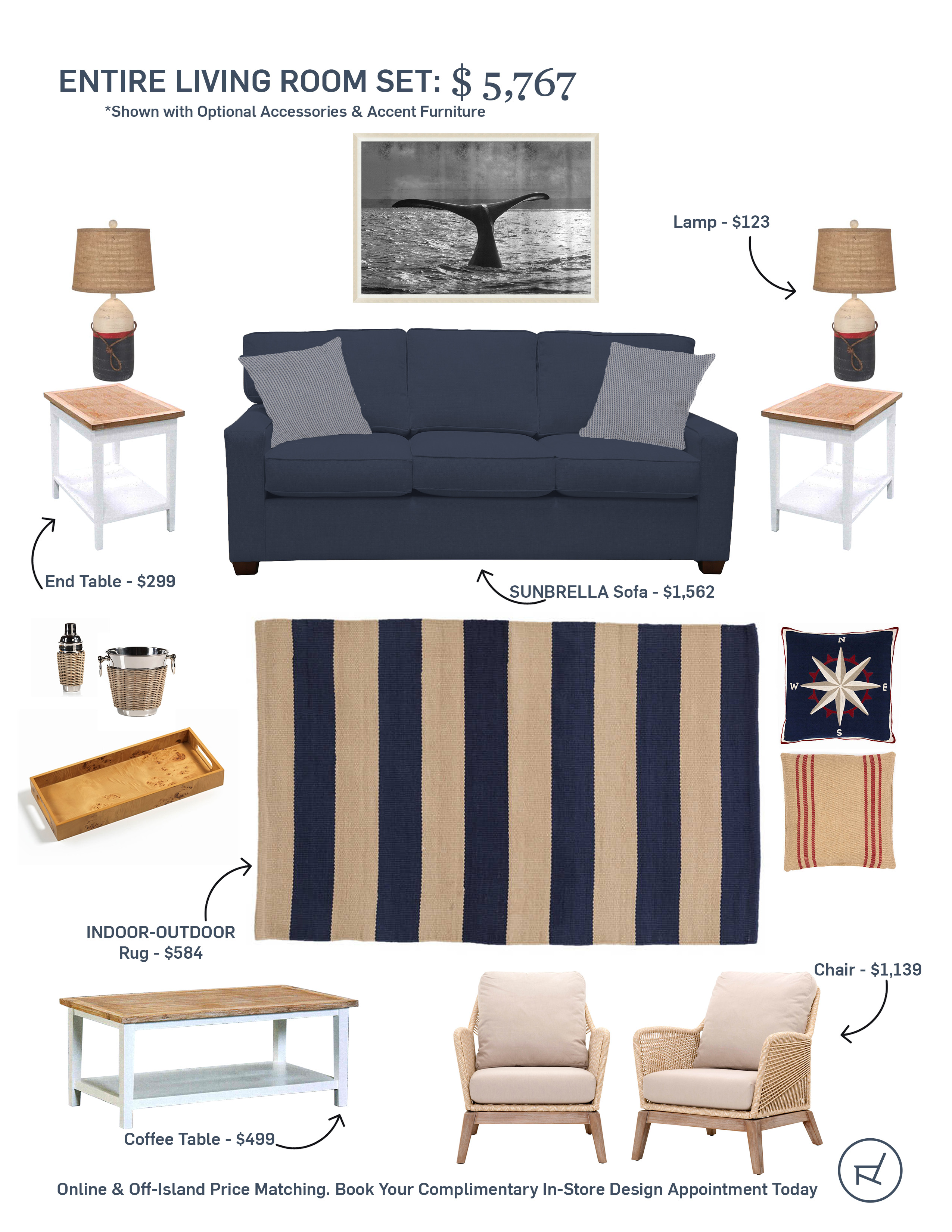 Design Your Island Life An Elevated Nautical Themed Living Room Mvy Living