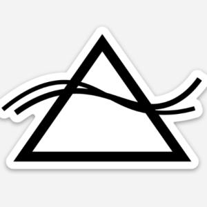 Mountain Wave Logo Sticker