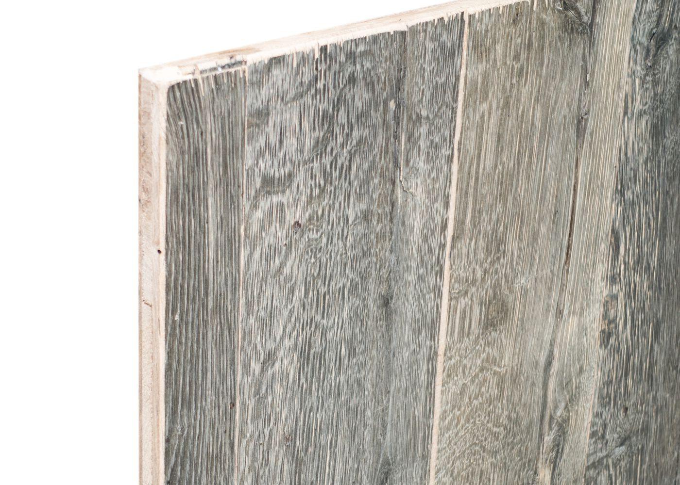 panneau 3 plis en vieux bois gris brut 2 faces plaquees