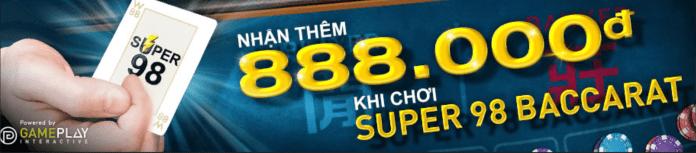khuyến mãi w88 casino thắng liên tiếp tại baccarat super 98