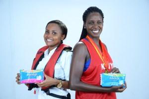 Always Brand Ambassdor Kenya Basketball captain Silalei Owour and Kenya's first marine pilot Elizabeth Marami