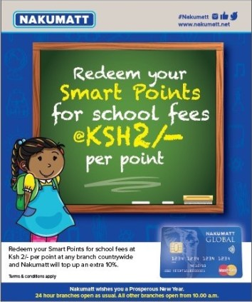 Nakumatt Smart points for School fees