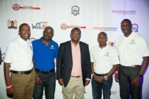 : Left to Right - FCG Marketing Director Erastus Ndungu, FCG Managing Director Alan Osoro, The Kenyan Ambassador to the USA Hon. Robinson Githae, FCG Co-Founder Samuel Njehu and FCG Vice President, Regional Operations Americas Peter Okwera