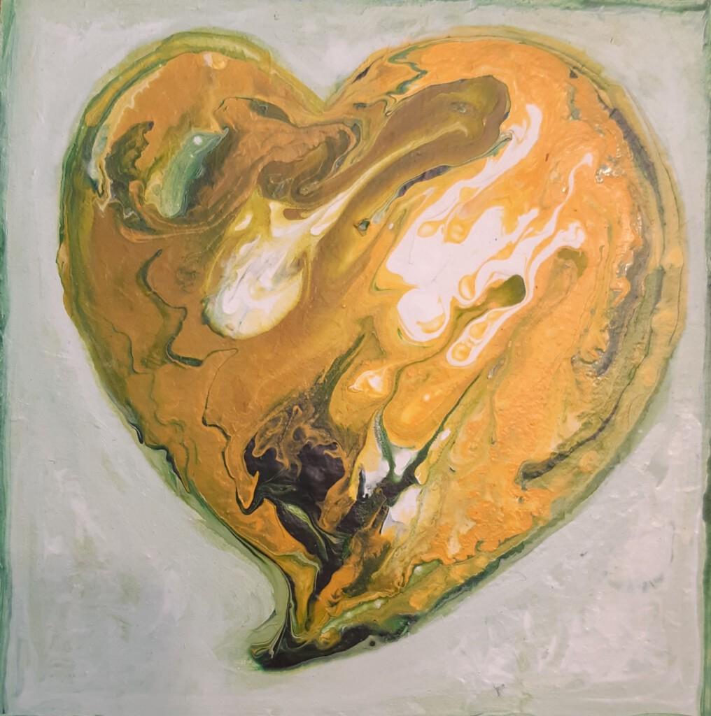 Groen hartje 2 - 15 x 15 cm -   Van € 45 voor € 35