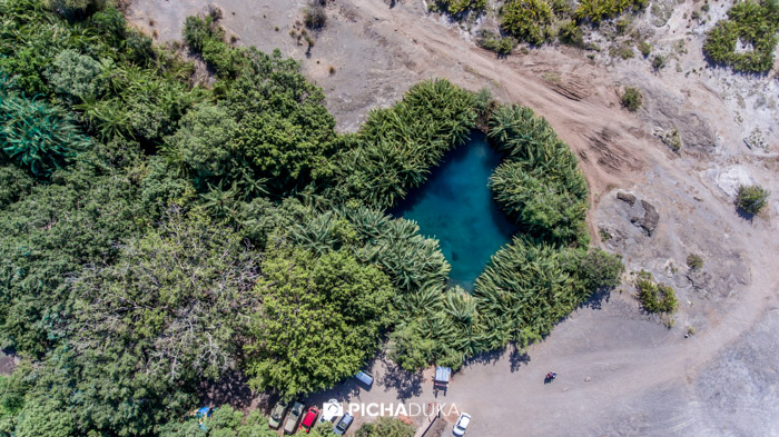 An aerial view of Kululetwa Hot Springs on 23rd August 2017.