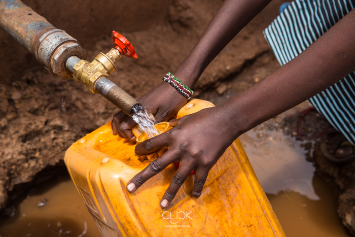 Fetching water at a well in Marsabit. 20th September 2017.