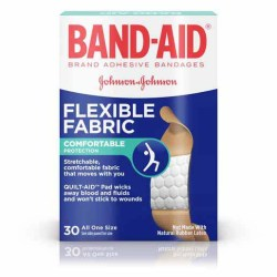 BAND-AID FLEXIBLE FABRIC ALL ONE SIZE 30 COUNT
