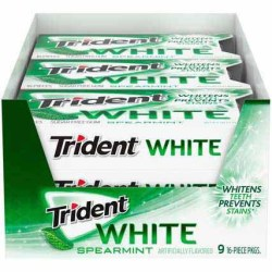 TRIDENT WHITE SPEARMINT GUM 16 PC
