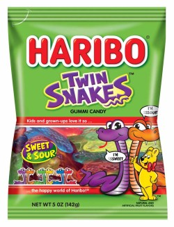 HARIBO TWIN SNAKES GUMMI 5 OZ BAG