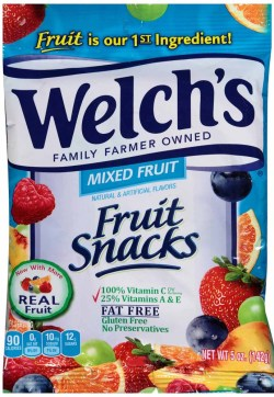 WELCH'S FRUIT SNACKS MIXED FRUIT 5 OZ