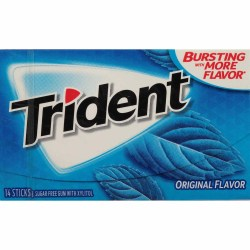 TRIDENT SUGAR FREE ORIGINAL GUM 14 PC