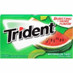 TRIDENT SUGAR FREE WATERMELON TWIST GUM 14 PC