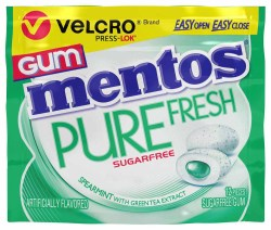 MENTOS SUGAR FREE SPEARMINT GUM 1.06 OZ