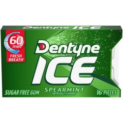 DENTYNE SPEARMINT ICE GUM 16 PC