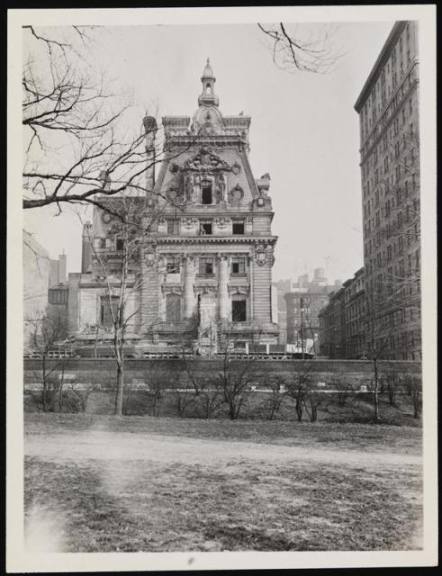 Clark Mansion, in 1927, already slated for demolition. From the Museum of the City of New York