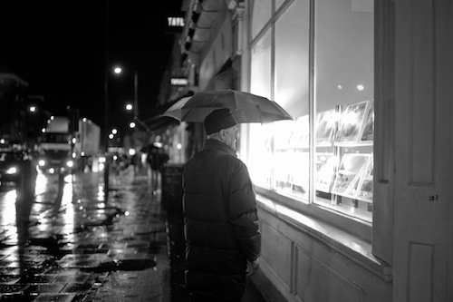 Rainy night in Streatham Hill, London By Drew Leavy