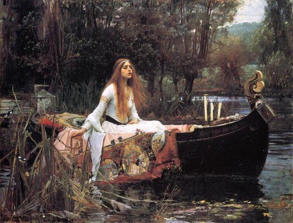 The Lady of Shalott by J. W. Waterhouse