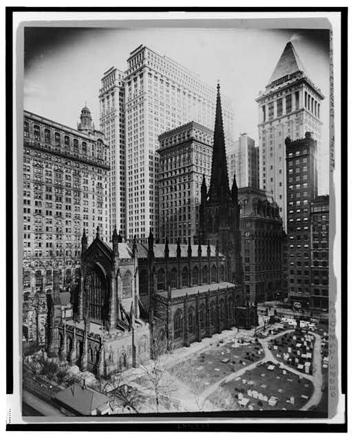 [Trinity Church and graveyard, viewed from rear] Created / Published c1916.