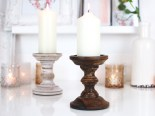 Dark wood vintage church candlestick £9.99 pair www.madewithlovedesigns.co.uk