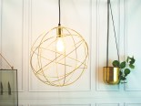 Gold globe orb light scandi lifestyle £199.95 www.madewithlovedesigns.co.uk