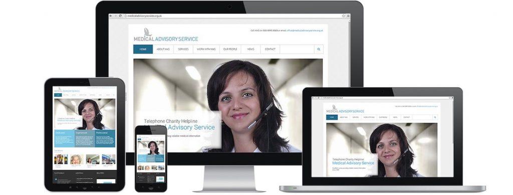 Medical Advisory Service Website Portfolio Multiple Devices