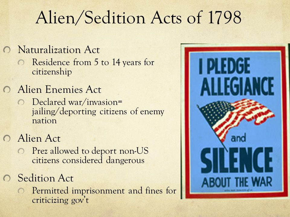 Alien and Sedition Acts - Mistakes Were Made