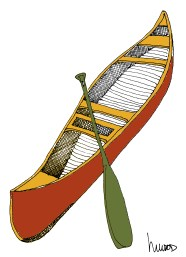 m wood canoe