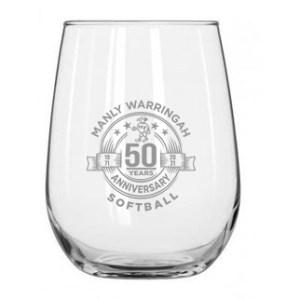 50th Anniversary wine glass