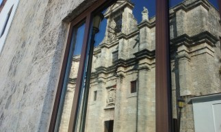 Reflection of the Church of the Heroes of the Republic