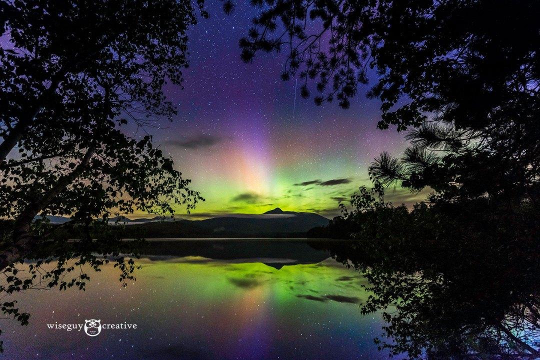 Northern lights over Chocorua