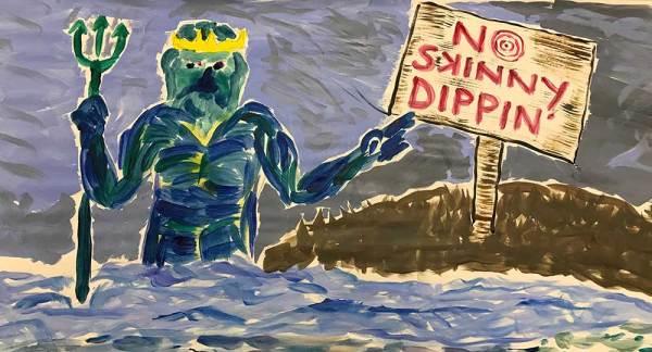 No Skinny Dipping Art