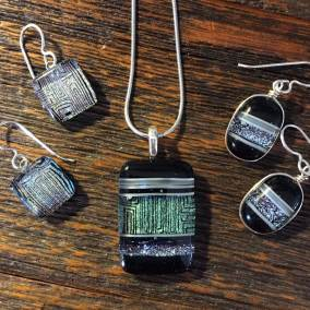 Fused Glass Jewelry by Momo Glass at Cassidy Gallery