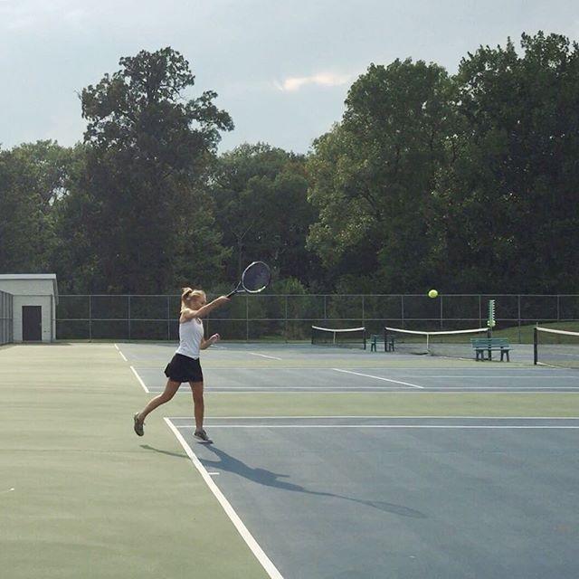 Girls Tennis First Away Game