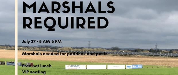 Marshals Required: Dick Mayo Sprint